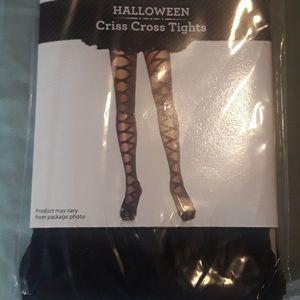 Halloween criss cross tights / BUNDLE ONLY